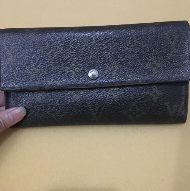 LV Sarah Wallet Ori Leather