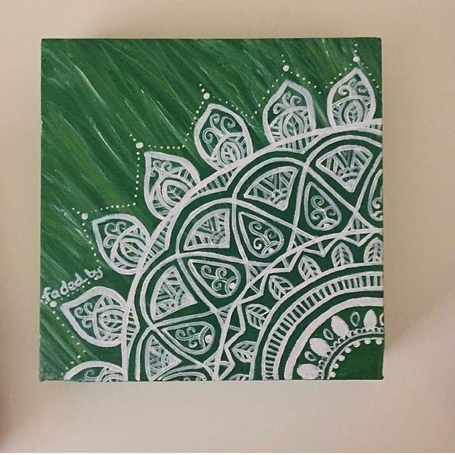 Mandala Style Acrylic Painting