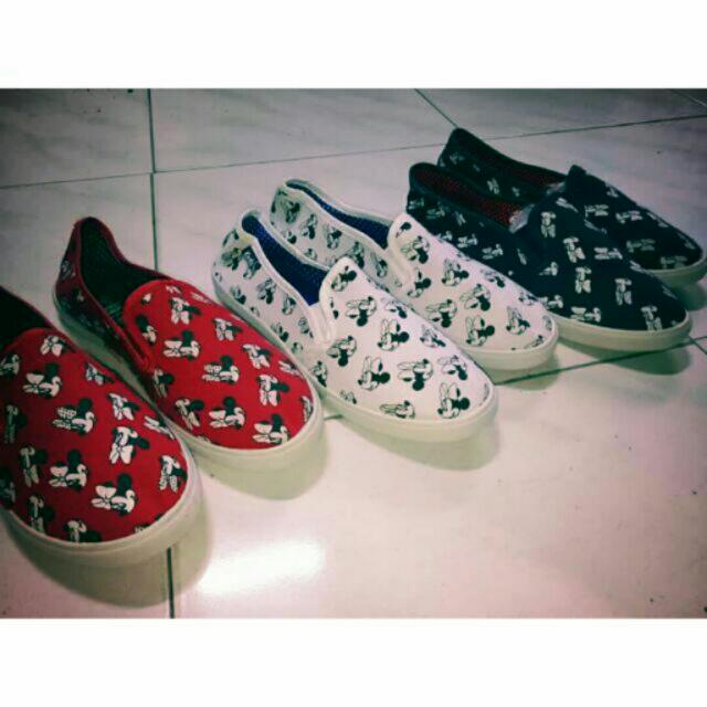 Mickey mouse shoes Slip on (WITHOUT BOX)