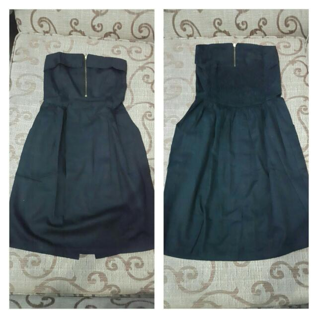 mini bLack dress / dress pendek