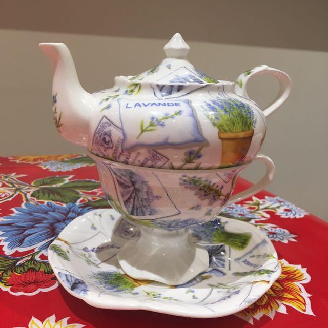Mini Tea Pot, Saucer And Cup