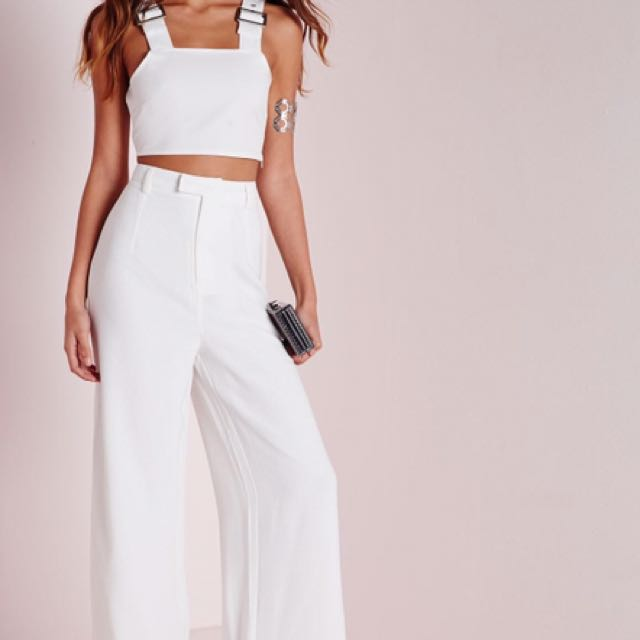 Missguided High Waisted Wide Leg Pants