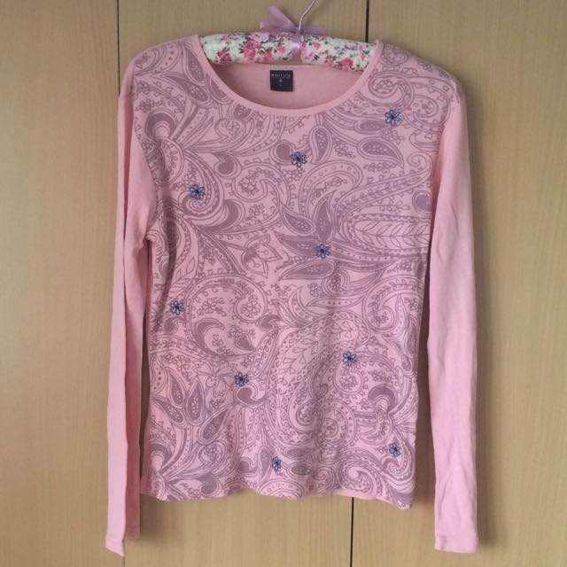 Nautica Floral Embroidered Long Sleeved Top