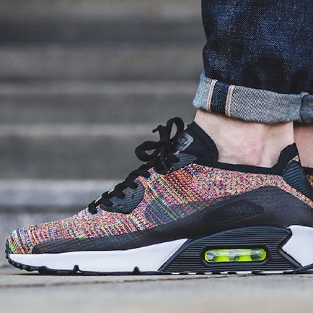 separation shoes 636bc fff93 Nike Air Max 90 Ultra Flyknit Multi-Color, Men s Fashion, Footwear on  Carousell