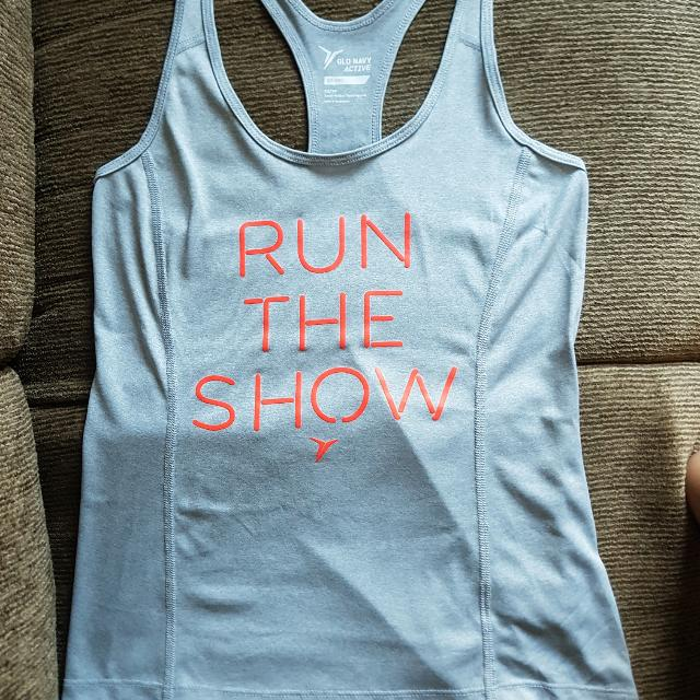 Old Navy Active Go-dry Semi Fit Graphic Tank - grey - US size XS