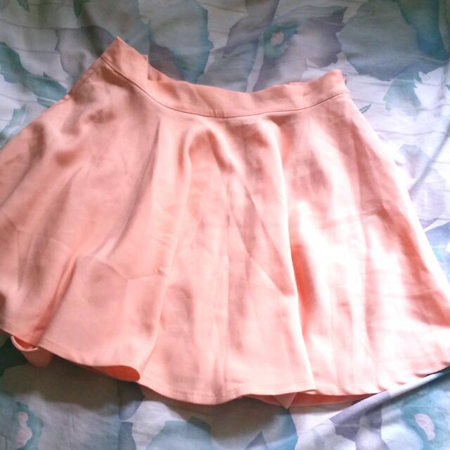 e05ef189bc overalls peach pink skater skirt