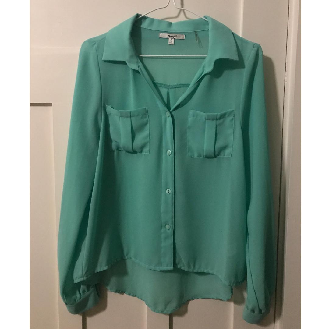 Papaya turquoise blouse