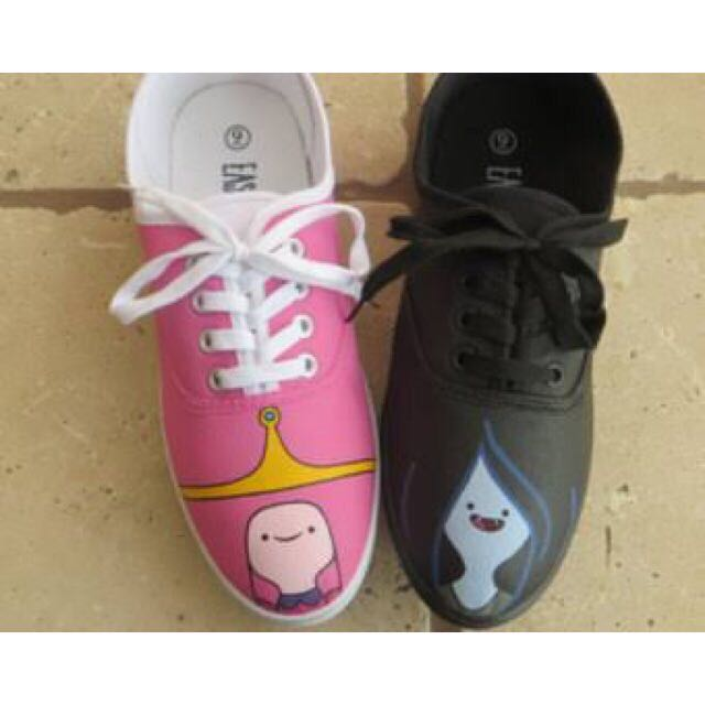 PB And Marceline Adcenture Time Hand Painted Shoes
