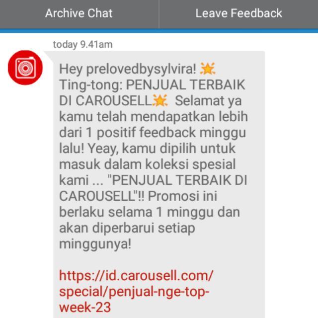 Penjual Carousell Terbaik✨
