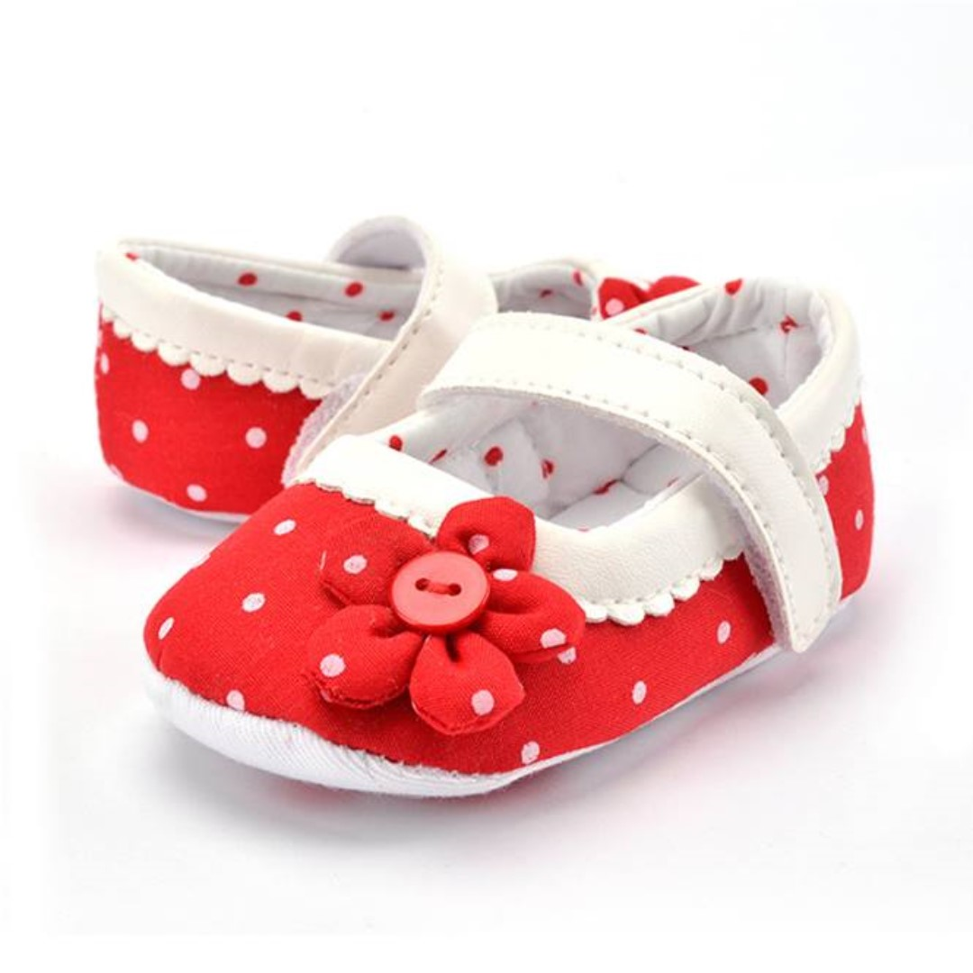 Polka Floral Anti Slip Baby Shoes