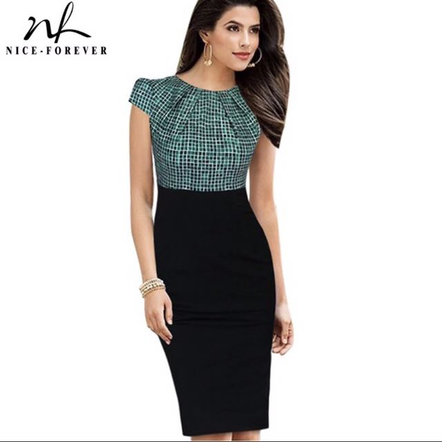 cd24accd7757 *PREORDER* Smart Casual Office Dress, Women's Fashion, Clothes, Dresses &  Skirts on Carousell