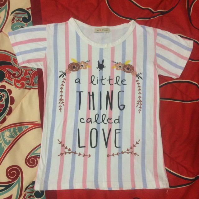 Purple & Pink Stripes Tumblr T-Shirt Tee