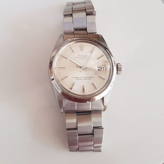 ROLEX rolex mensize oyster perpetual date automatic chronometer