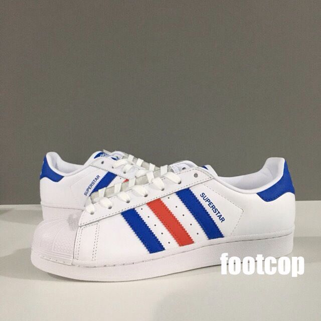 [SALE] Adidas Superstar Blue Red