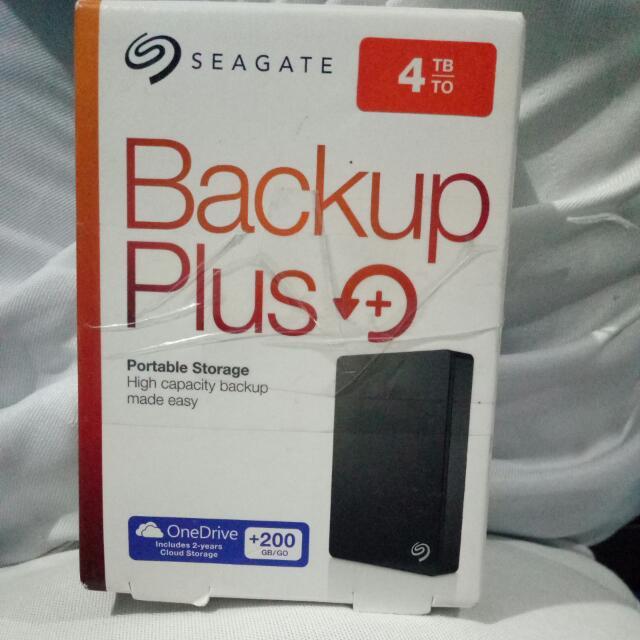 Seagate Back Up Plus 4TB