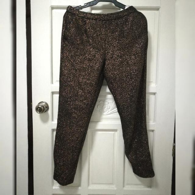 Sequin fabric Trouser