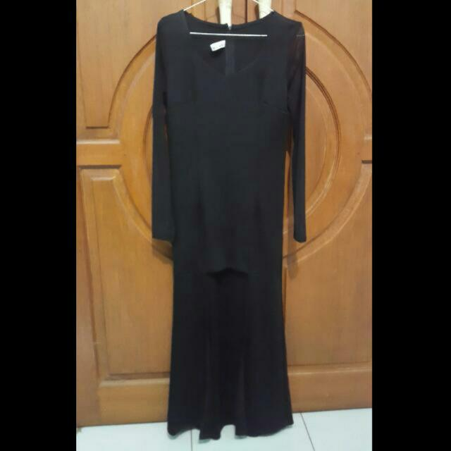 sexy bLack Longdress / dress panjang