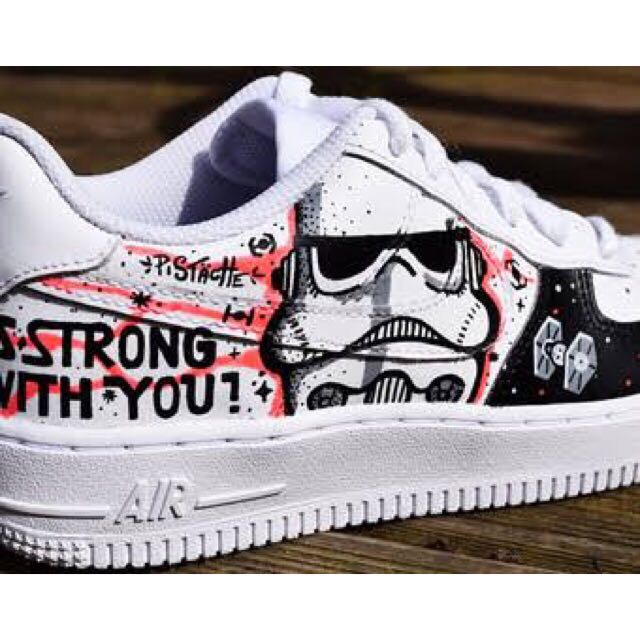 Star Wars Air Force 1 Hand Painted Shoes