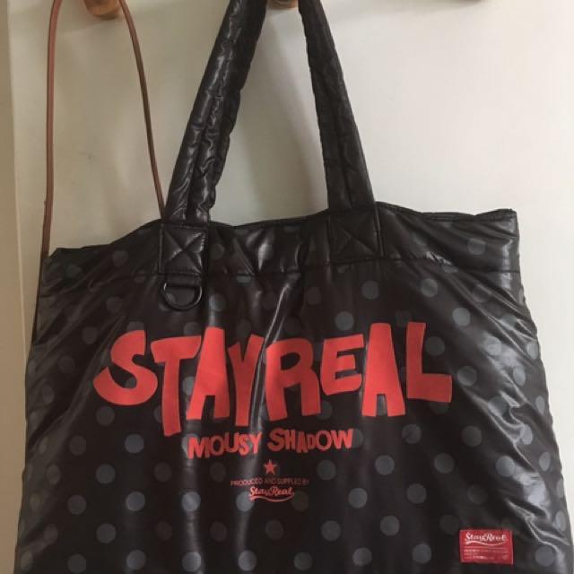 Stay real Stayreal 米奇 空氣包 太空包 包包 側背包