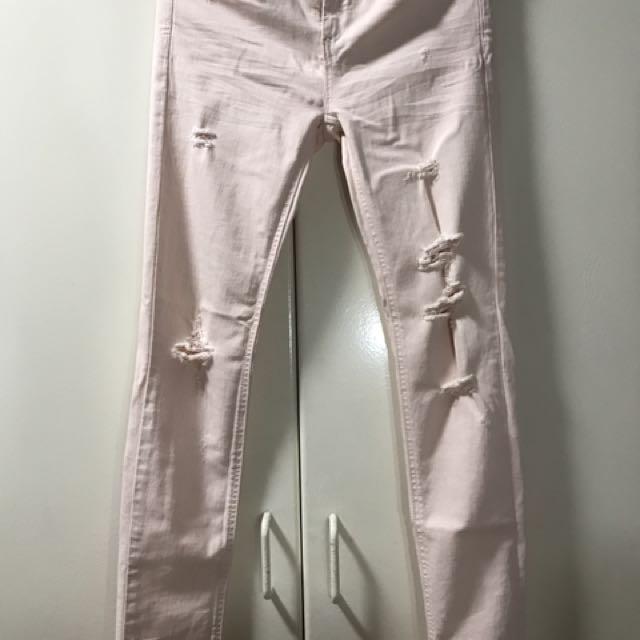 Brandnew Stradivarius Ripped Skinny Jeans