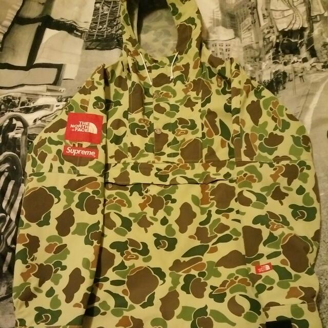 "Supreme x The North Face ""Duck Camo"" Pullover Jacket."
