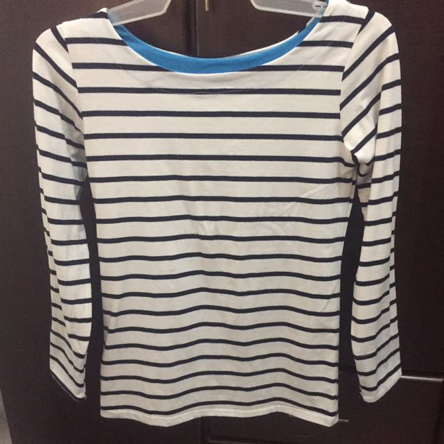 Sweater Stripes Blue And White