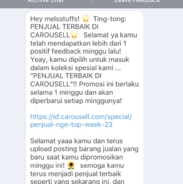THANK YOU CAROUSELL 😘