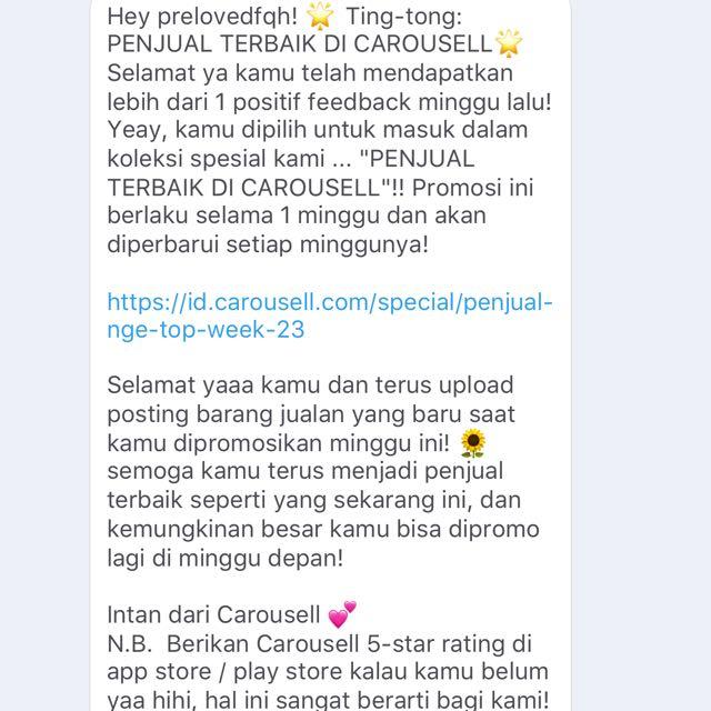 Thanks Carousell 😘