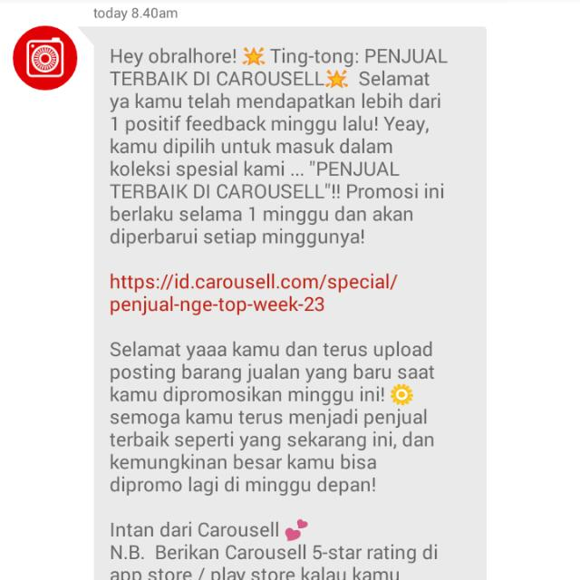 Thanks, Carousell! 💜