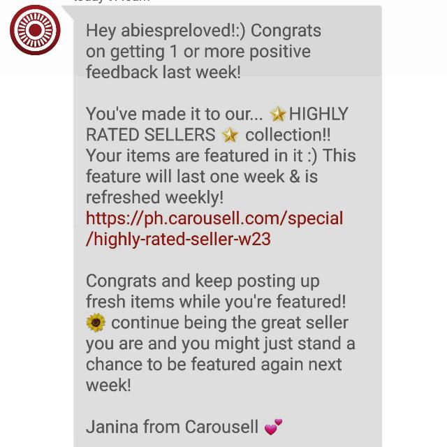 Thanks Carousell ❤