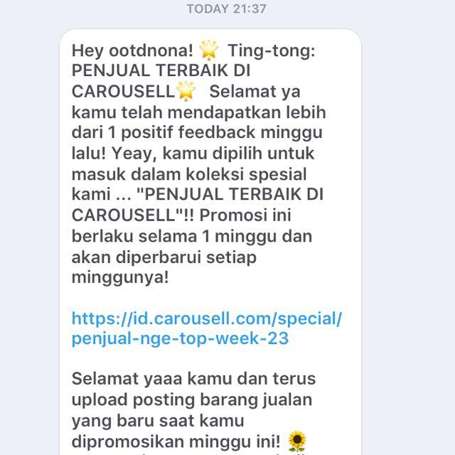 Thankyou Carousell! 💖