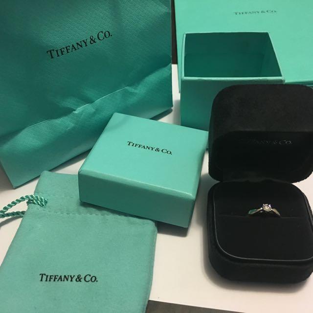 Tiffany Diamond Ring Green 戒指 介子 0.2 carat full set