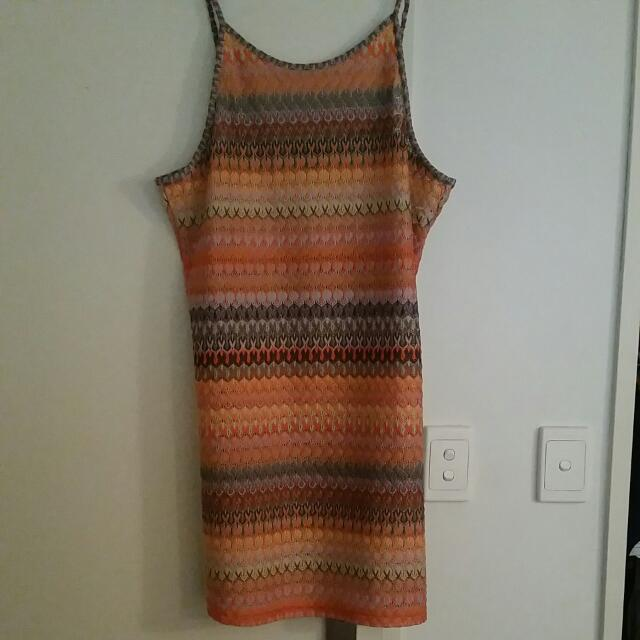 TOPSHOP CROCHET DRESS SIZE 16
