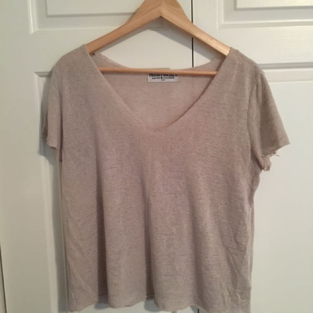 Two Blueish And White T Shirts Medium