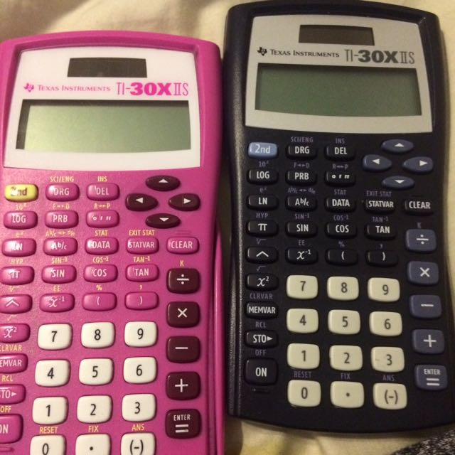 Two TI-30XIS calculators
