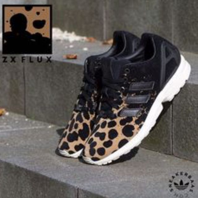 Very Stylish Adidas Women's ZX Flux Shoes In Cheetah