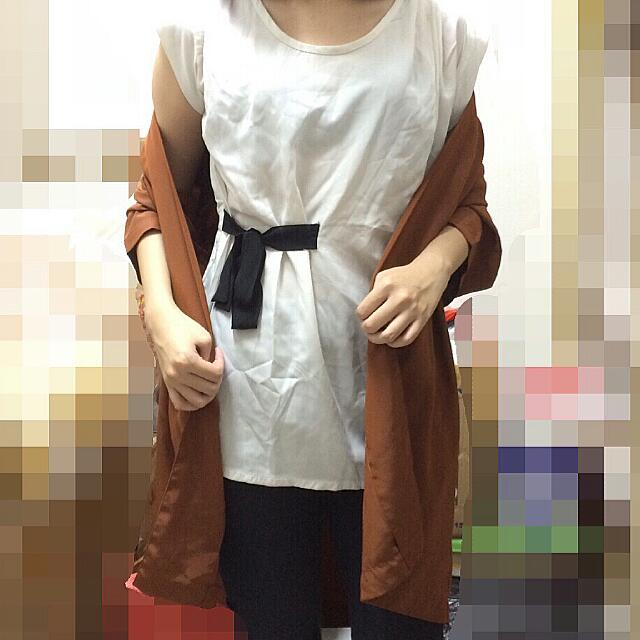 Vintage Outter & Tied Blouse (Take ALL)