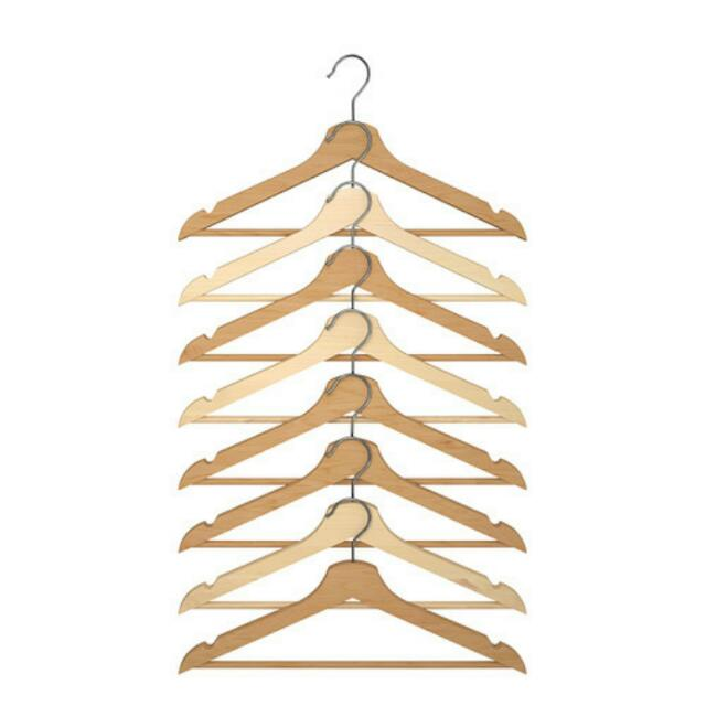Wood Hangers 8 In One Pack