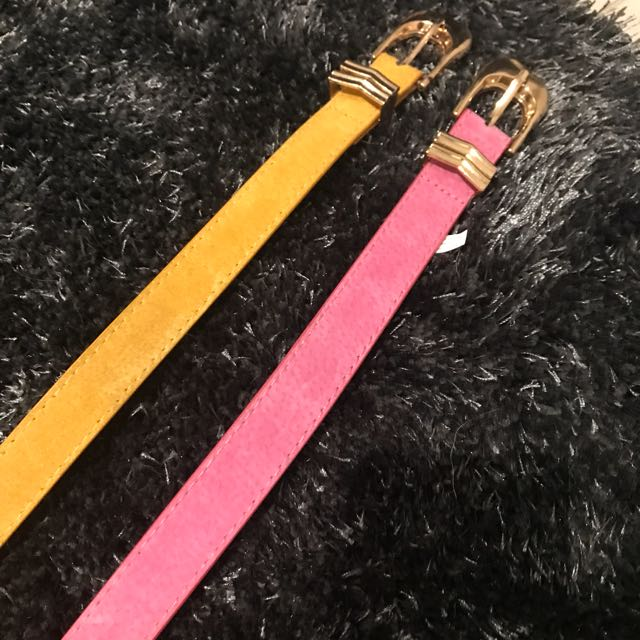 Yellow And Pink Belt