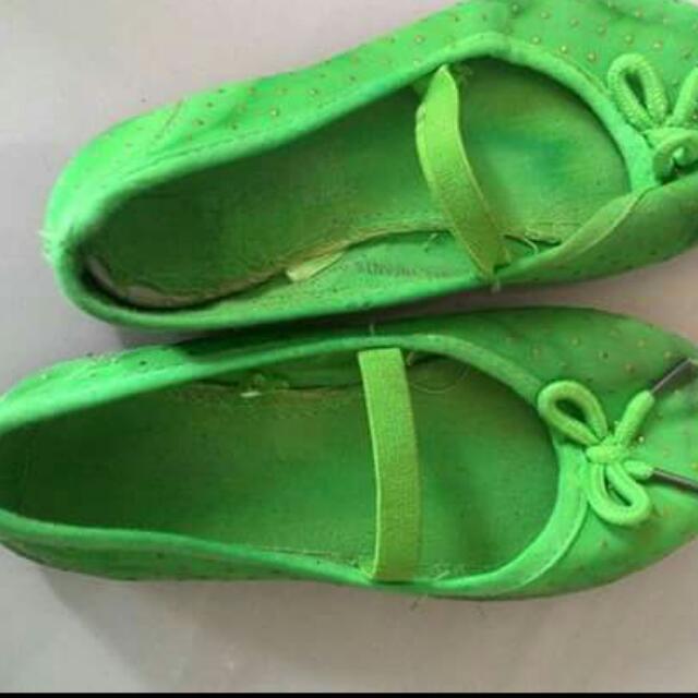 Yellow Green Sandals