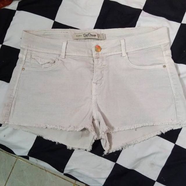 zara white short pants