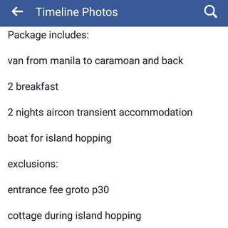 RUSH SALE! 1 Slot Caramoan 3D2N June 8-11
