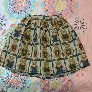 Grandmafunk Teddy Skirt Size M