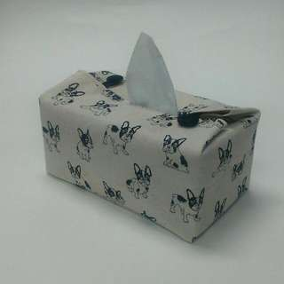 Fabric Cover For Tissue Box - Pups And Bull Dogs