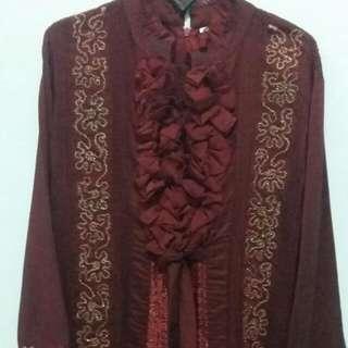 Setelan Baju Pesta Muslim Celana