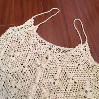 Lace Button-Up Tank