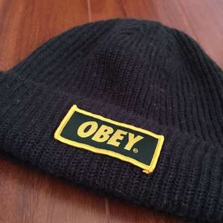 Green/ Yellow Obey Beanie