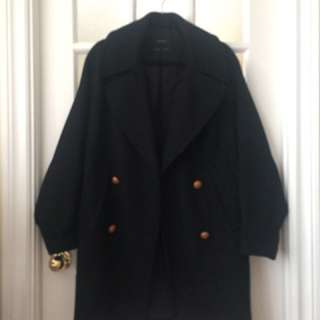 Zara Navy Coat (small)