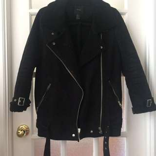 F21 Black Moto Jacket (small)
