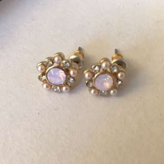F21 Pink Stud Earrings